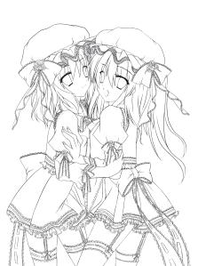 Touhou Line Art