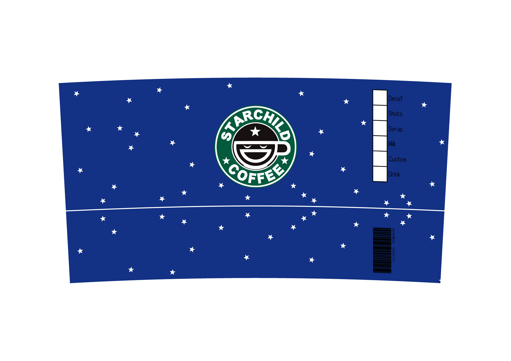 Starchild coffee for Starbucks personalized tumbler template