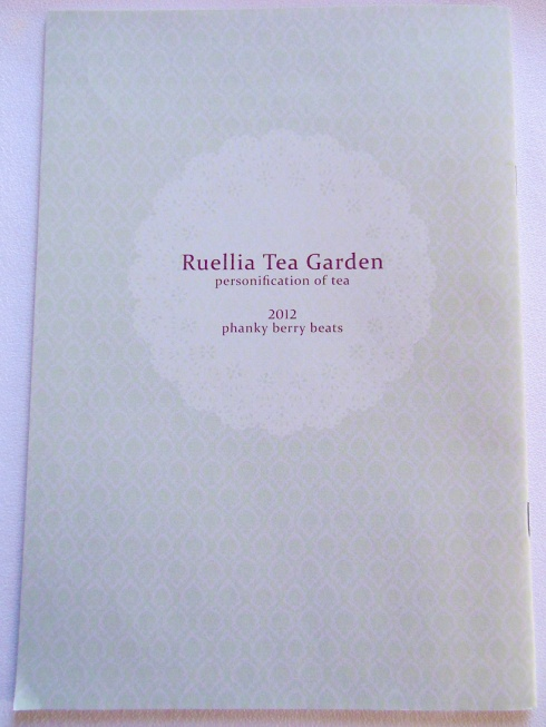 Ruellia Tea Garden - Back Cover