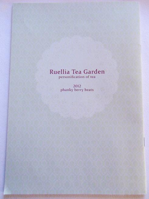 Ruellia Tea Garden - Back Cover